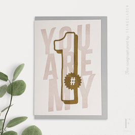 NUMBERS // You are my #1 (Gold/Bisque)