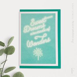 KARAOKE INSPIRED // Sweet Dreams are made of Wonders (Mint/FluoGreen)