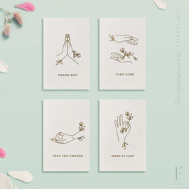 FLORAL HANDS // Set of all 4 – Mini