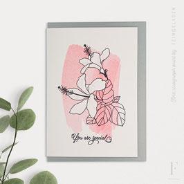 BOTANICA // Hibiscus »You are special« (BlackMagic/FluoRed)