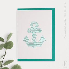LINE ART // Anchor (Mint)