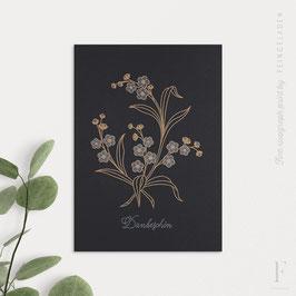BOTANICA // Forget-me-not »Dankeschön« (Black Edition)