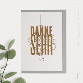 FANCY TYPE // Danke Sehr (verschiedene Farben)