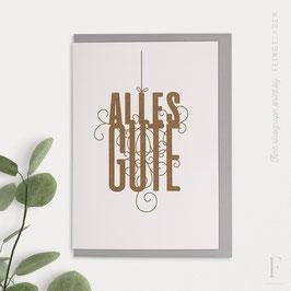 FANCY TYPE // Alles Gute (verschiedene Farben)