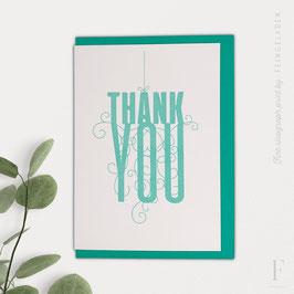 FANCY TYPE // Thank You (verschiedene Farben)