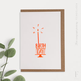 TYPOGRAFICA // Happy Birthday (FluoOrange)
