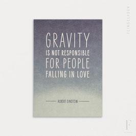 FINE QUOTES // Gravity (Albert Einstein)
