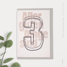 NUMBERS // Aller guten Dinge sind 3 (BlackMagic/Bisque)