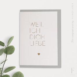 MAGIC WORDS // Weil ich dich liebe (verschiedene Farben)