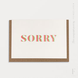 MAGIC WORDS // Sorry (FluoGreen/FluoRed)