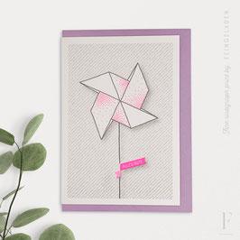 LIKE ORIGAMI // Pinwheel (DE & EN/ verschiedene Farben)