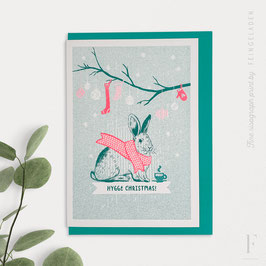 LOVELY BEASTS // Bunny »Hygge Christmas!« (Teal/FluoRed)