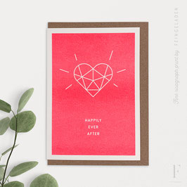 SIMPLY DIVINE // Heart »Happily ever after« (FluoRed)