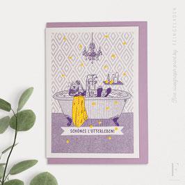 LOVELY BEASTS // Otter »Schönes L'Otterleben« (Purple/Sunflower)