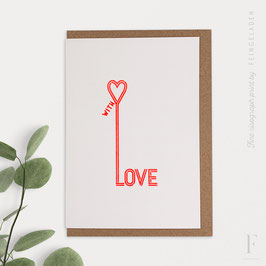 TYPOGRAFICA // With Love (FluoRed)