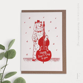 LOVELY BEASTS // Bear »Happy Bear's Day to You« (CrimsonRed)