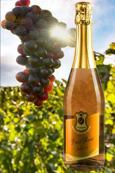 0,75Ltr.  2019er  Pinot Rosè    Sekt b.A.  extra trocken
