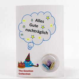 """Geburtstagskarte - """"Alles Gute nachträglich"""""""