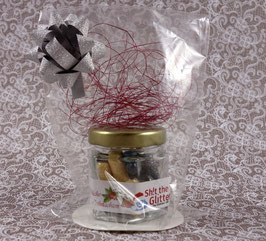 Shit the Glitter - 20pcs glass container - Xmas-Edition