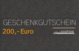 Gutschein über 200,- Euro