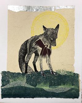 Fox with Silver Sunrise