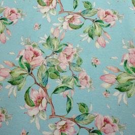 Dekostoff Blütenpracht blau280cm breit