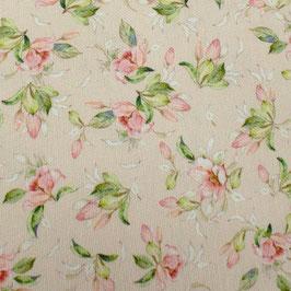 Dekostoff kleine Blüten auf Rosa 280cm breit