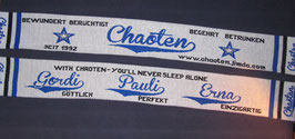 "Fan-Schal ""With Chaoten - You'll never sleep alone!"""