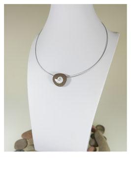 "RHEiN-KiESEL ""Ammonit""  925 Silber"