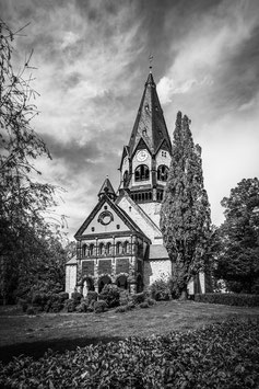 Lutherkirche Chemnitz Schwarz-Weiß