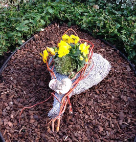 bepflanztes Frühlingsherz