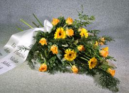 Trauer-Strauß in gelben Tönen (#2050)