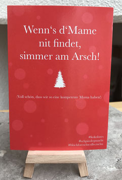 Postkarte Bläckforescht 16 - Wenns Mame nit findet