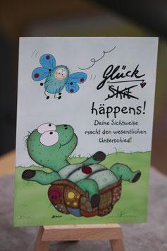 Postkärtchen - 428 Glück Happens