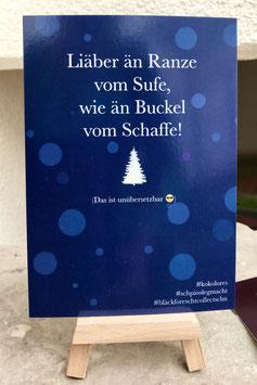 Postkarte Bläckforescht  23 - Liäber an Ranze ..