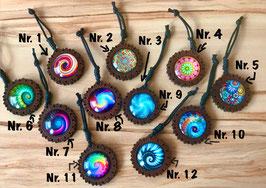 Schlüsselanhänger Glassteinchen Mandala