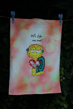 "298 Stoff-Panel ""100%-Liebe"""