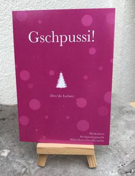 Postkarte Bläckforescht 18 B - Gschpussi!