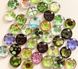 Die Glassteinchen - Kleeblätter - 3er-Päckle