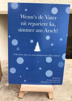 Postkarte Bläckforescht  26 - Wenn´s de Vater  ..