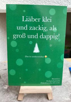 Postkarte Bläckforescht  20 - Liäber Klei und zackig ...