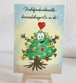 Postkärtle - 287 - Funkelfreudeweihnachtsherzensliebesgrüße