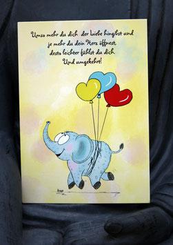 Postkärtle - 257 - Umso mehr du dich der Liebe hingibst ...