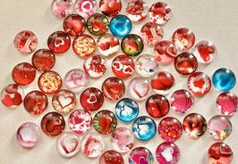 Die Glassteinchen - Herzen - 4er-Päckle