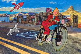 Tintin sur la route 66