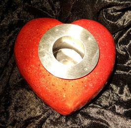 Keramik-Herz mit Edelstahlbehälter