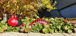 Wurm 3-teilig rot/schraz