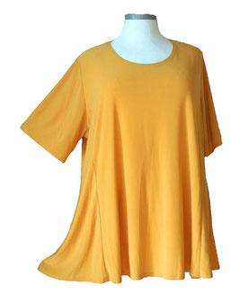 SunShine T-Shirt in A-Linie Ocker Uni (UC-744)