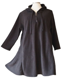 Hoodie Fleece Pullover in A-Linie mit Kapuze (Sw)