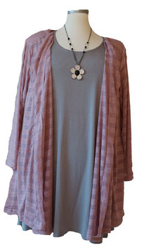 Chasuble in A-Linie Durchbrochen Violet (CJ22)